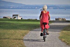 Senior on Bike